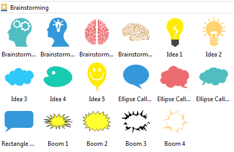 brainstorming diagram symbols