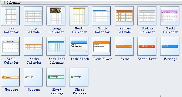 Calendar Marker Symbols