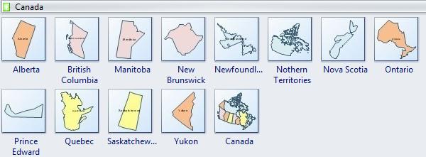 Canada Geo Map Symbols