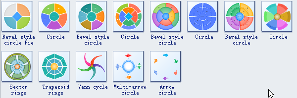 Circle Spoke Diagram Symbols 2