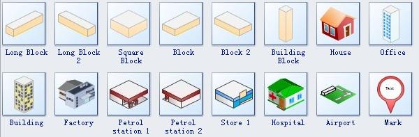3D Street Map Symbols 2