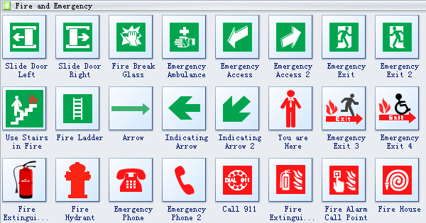 Fire and Emergency Plan Symbols