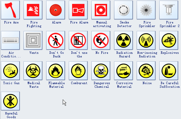 And Emergency Plan Symbols