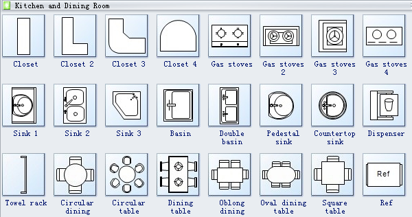Floor Plan Office Furniture Symbols
