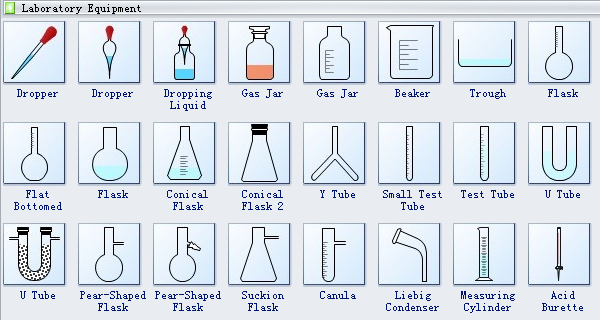 Laboratory Equipment Diagram Symbols