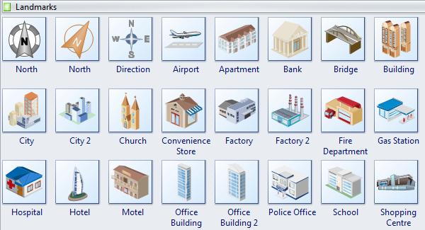 Directional Map Symbols
