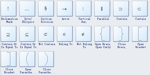 Mathematics Diagram Symbols 3