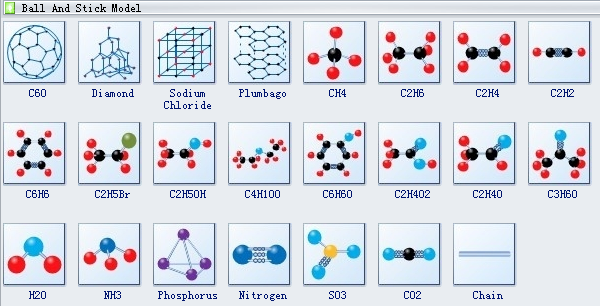 Molecular Model Diagram Symbols 3