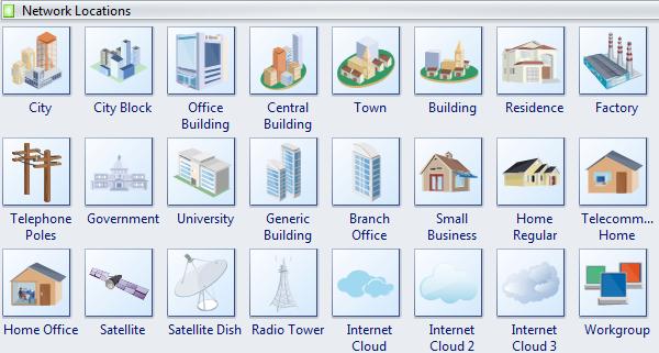 Network Location Diagram Symbols