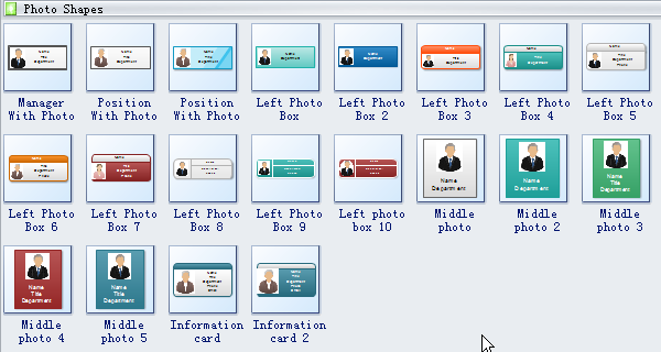 photo organizational chart symbols - Org Charting Software