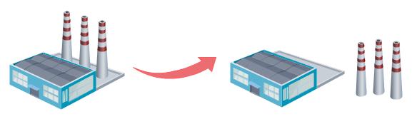 Building Symbol Separate Shape