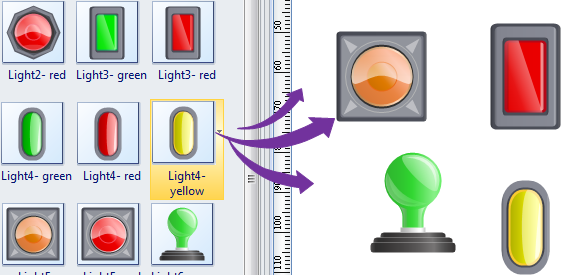 Drag Light Symbols
