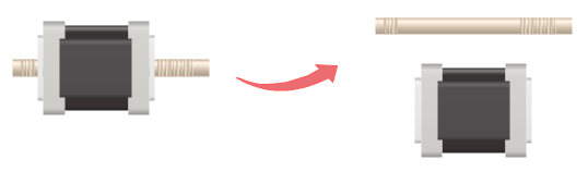 Motor Symbol Separate Shape