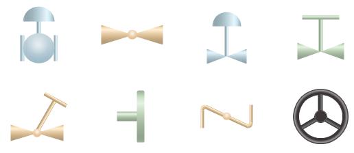 Symboles de schéma P&ID en surbrillance