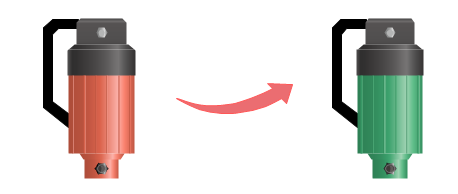 Modifier la couleur de symbole de pompe
