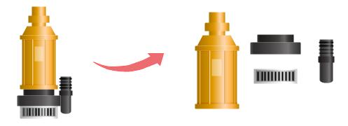 symbole de pompe séparables