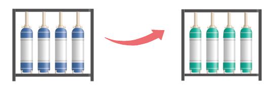 modifier la couleur des symboles de traitement des eaux usées