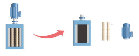 symboles de traitement des eaux usées séparables