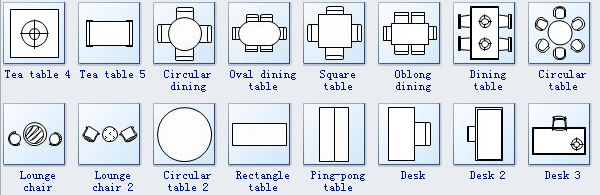 Seating Plan Symbols 2 Dining Table