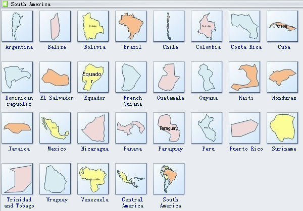 South America Geo Map Symbols