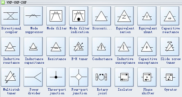 basic electrical symbols system schematics symbols - Visio Shapes Electrical