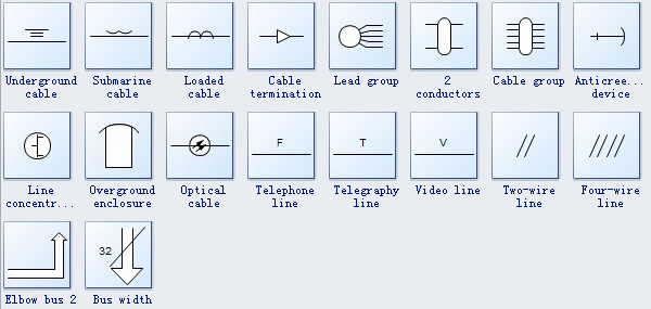 Industrial Control System Symbols on single line diagram sld