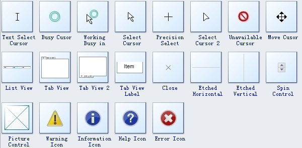 Window UI Wireframe Symbols 3