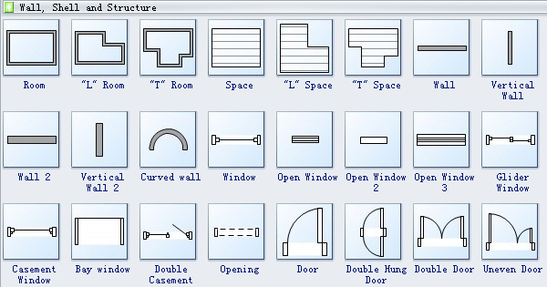 Floor Plan Design Symbols-Wall