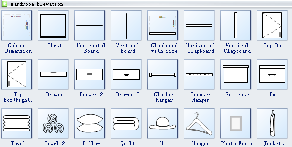 Floor Plan Elevation Symbol : Wardrobe plan symbols
