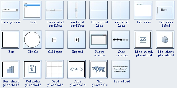 Wireframe Software Symbols 2