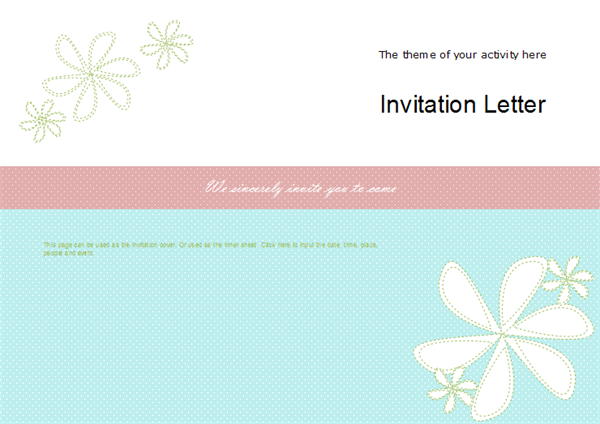 Invitation Card Examples - Activity Invitation Card