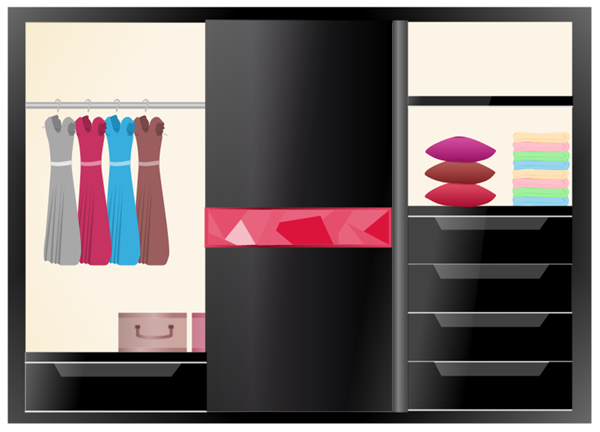Black Wardrobe Design Example