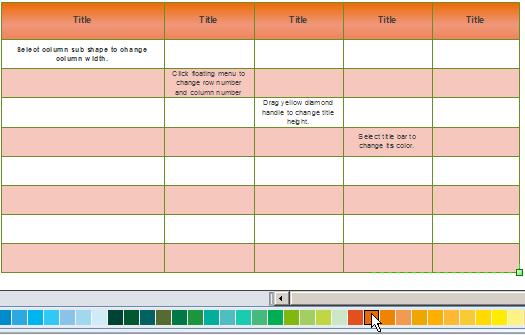 Change Comparison Chart Color