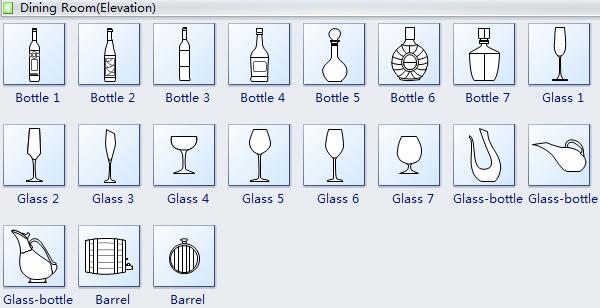 Elevation Plan Symbols : Elevation diagram symbols