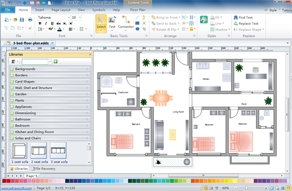 Floor plan design software Create house plans online free