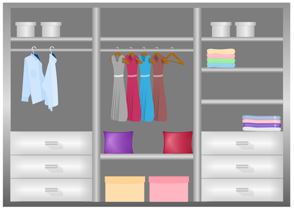 Grey Wardrobe Design Example