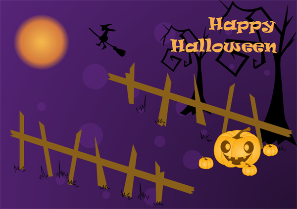 Halloween Card Example and Template