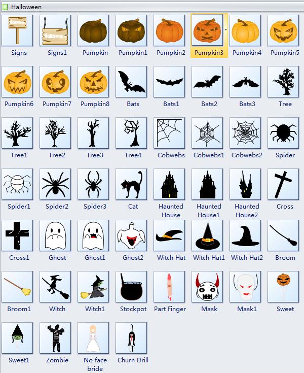 Symboles de carte Halloween
