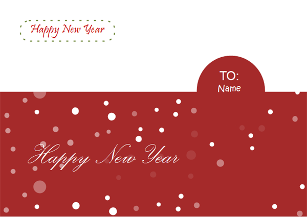 Greeting Card Examples - Happy New Year Card