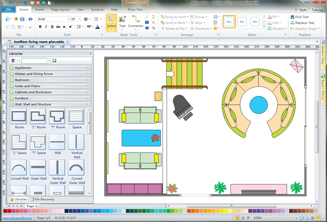2d house floor plan design software free download
