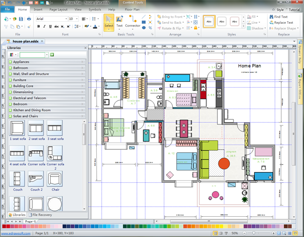 House layout designer House construction design software free