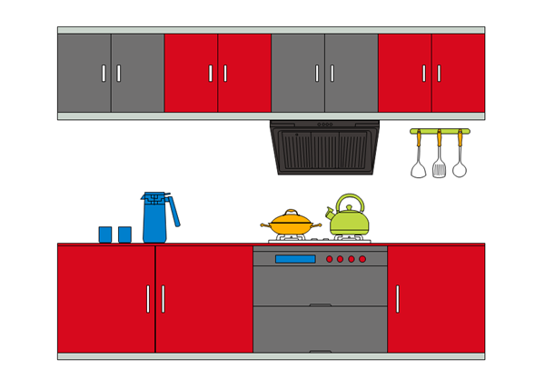 Free Printable Kitchen Layout Templates Download