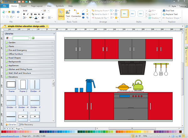 templates to create and present your kitchen layout design in minutes
