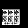 Fogão de gás de seis elementos