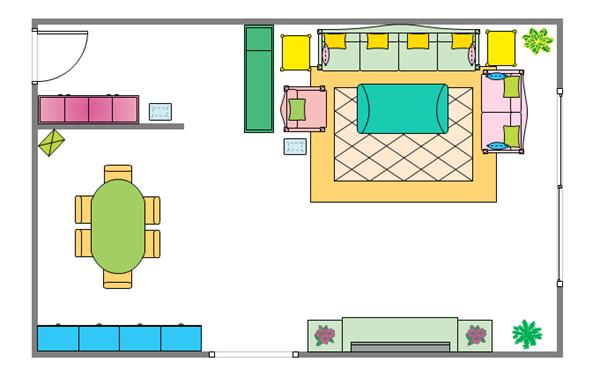 Elevation Plan Template : Living room elevation creator
