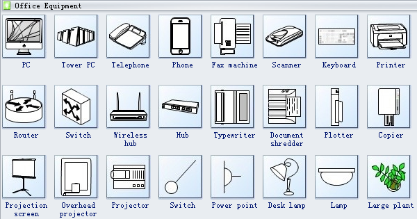 Office Layout Symbols