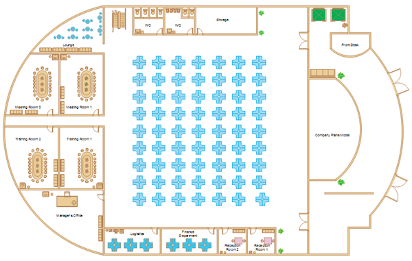 Office floor plan software for Office floor plan samples