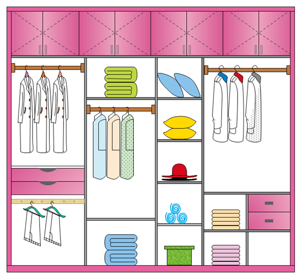 Pink Wardrobe Design Example