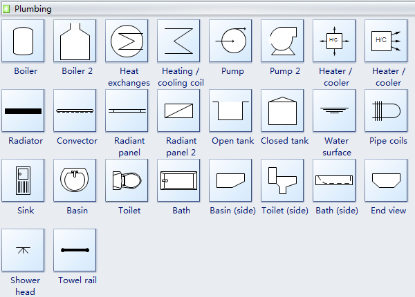 plumbing and piping plan symbols