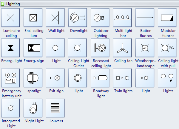 Wall Mounted Lamp Symbol : Reflected Ceiling Plan Symbols